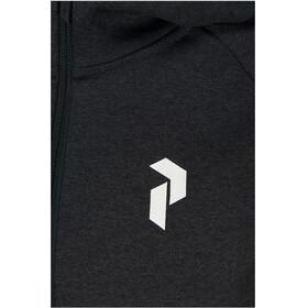 Peak Performance W's Pulse Zip Hood Dark Grey Melange